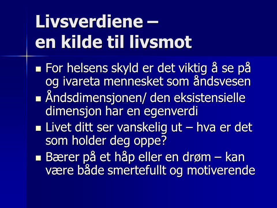 Sitat fra Heggheim i Sykepleien Å møte menneskets åndelige behov er en del av vårt faglige ansvar.