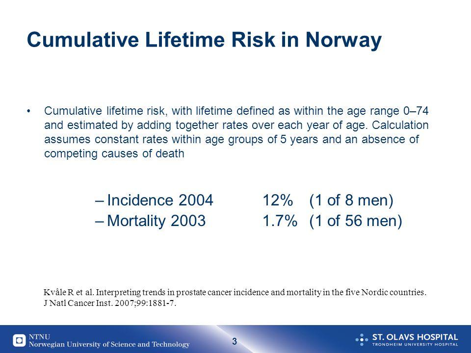 4 Epidemiologi Norge I 2007 fikk 4391 norske menn prostatakreft, mens det ble registrert 3815 slike tilfeller året før.