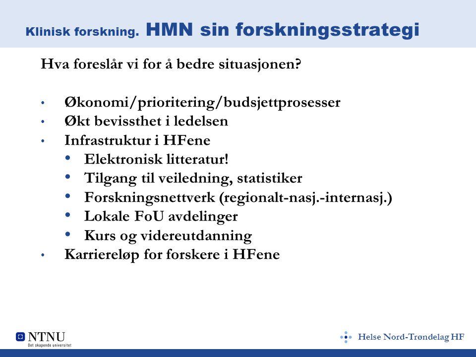 Helse Nord-Trøndelag HF Klinisk forskning.