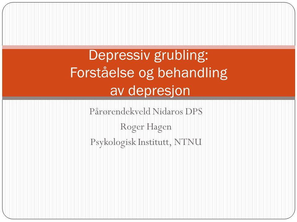 Depressive lidelser F32 Depressiv episode Ved typisk milde, moderate eller alvorlige depressive episoder lider pasienten av senket stemningsleie (nedstemthet), redusert energi og aktivitetsnivå.