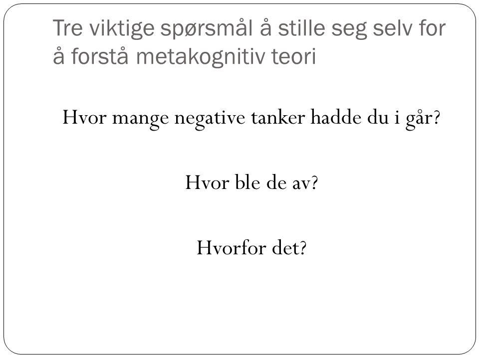 Hva er metakognitiv torii.