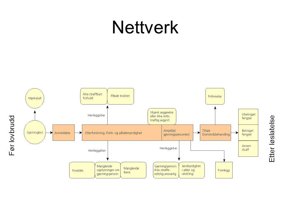 Nettverk Før lovbrudd Etter løslatelse