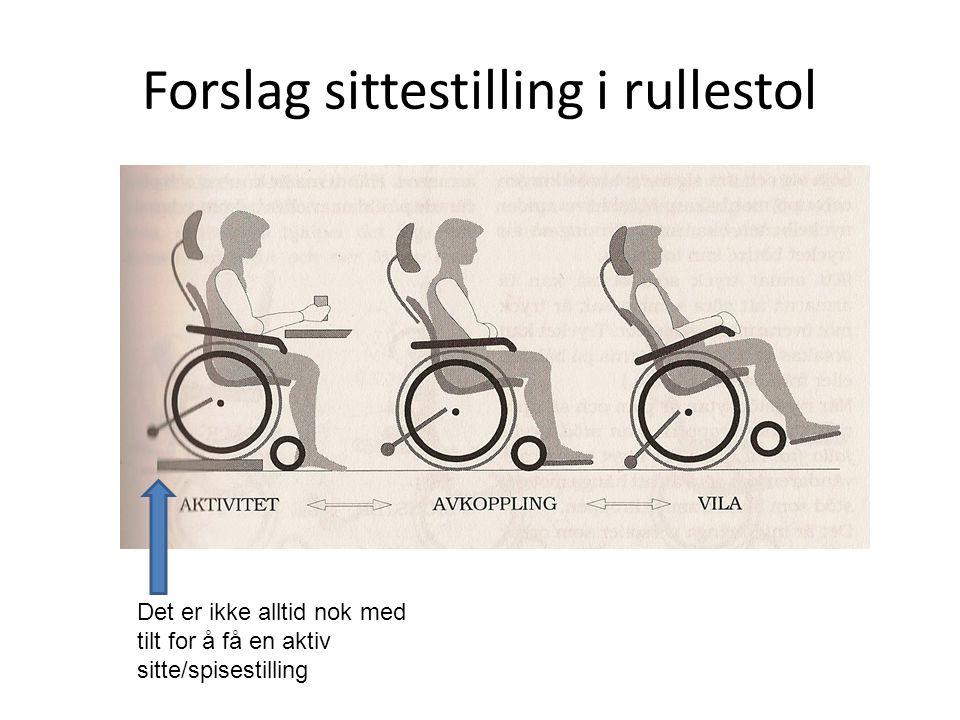 Forslag sittestilling i rullestol Det er ikke alltid nok med tilt for å få en aktiv sitte/spisestilling