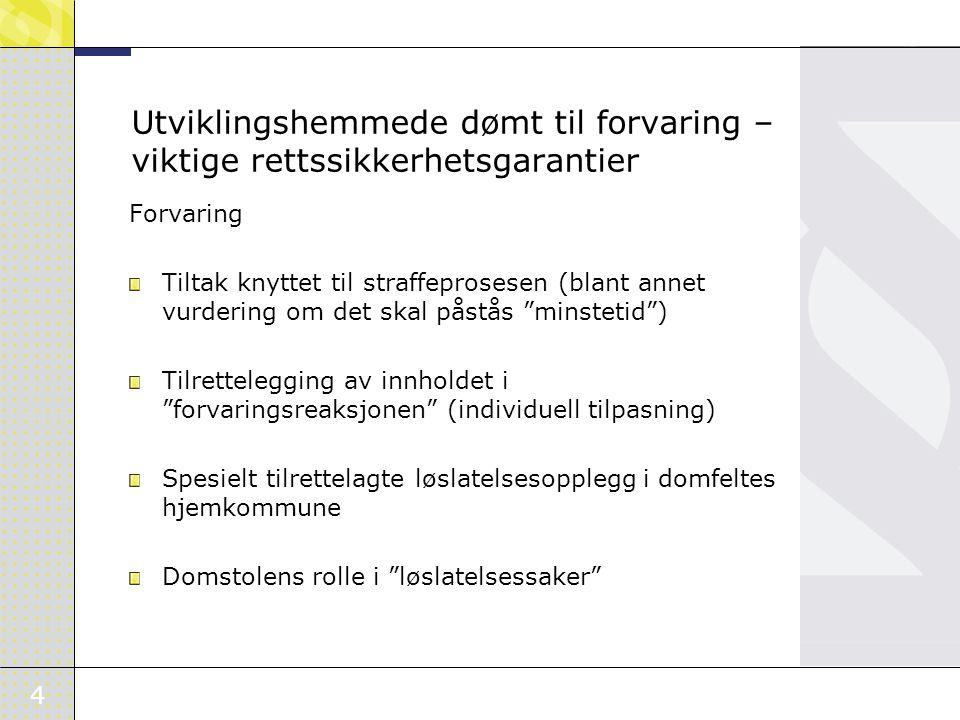 5 Etterkontroll av reglene for strafferettslig utilregnelighet og særreaksjoner Utredningsgruppe (Mæland-gruppen) oppnevnt av JD i samråd med HOD 18.mai 2006 Bakrunnen for oppnevning var Stortingets pålegg om etterkontroll av reglene for idømmelse og innholdet av særreaksjonene jf.