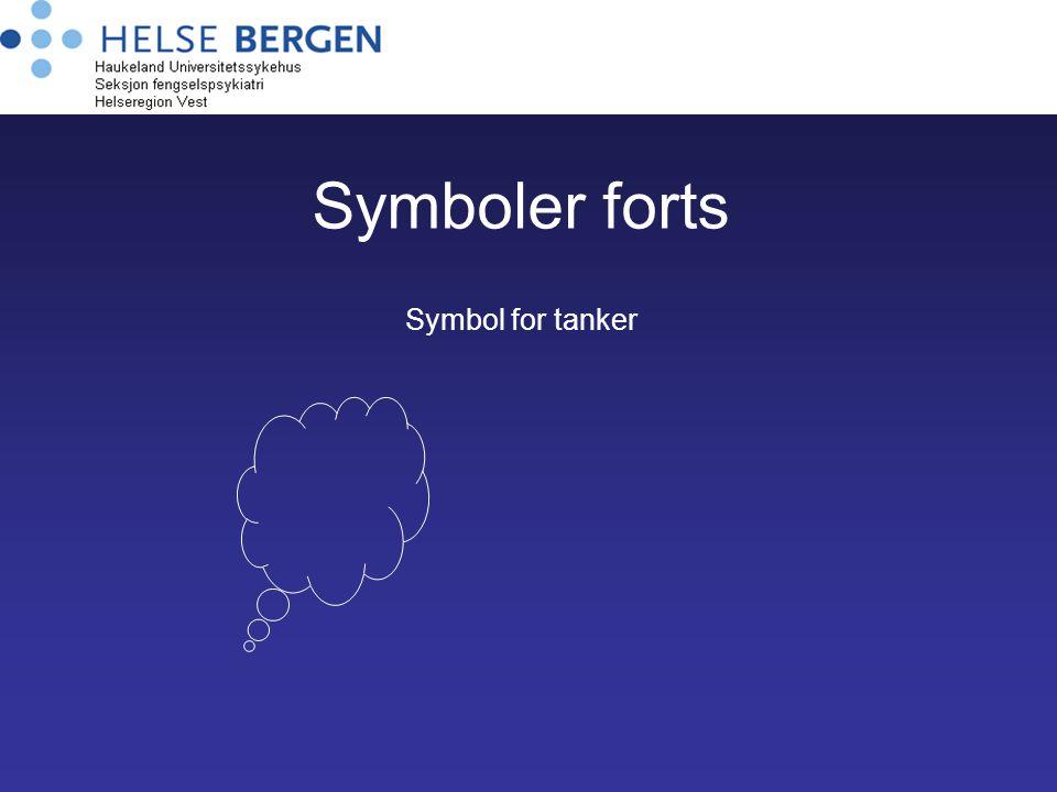 Symboler forts Symbol for tanker