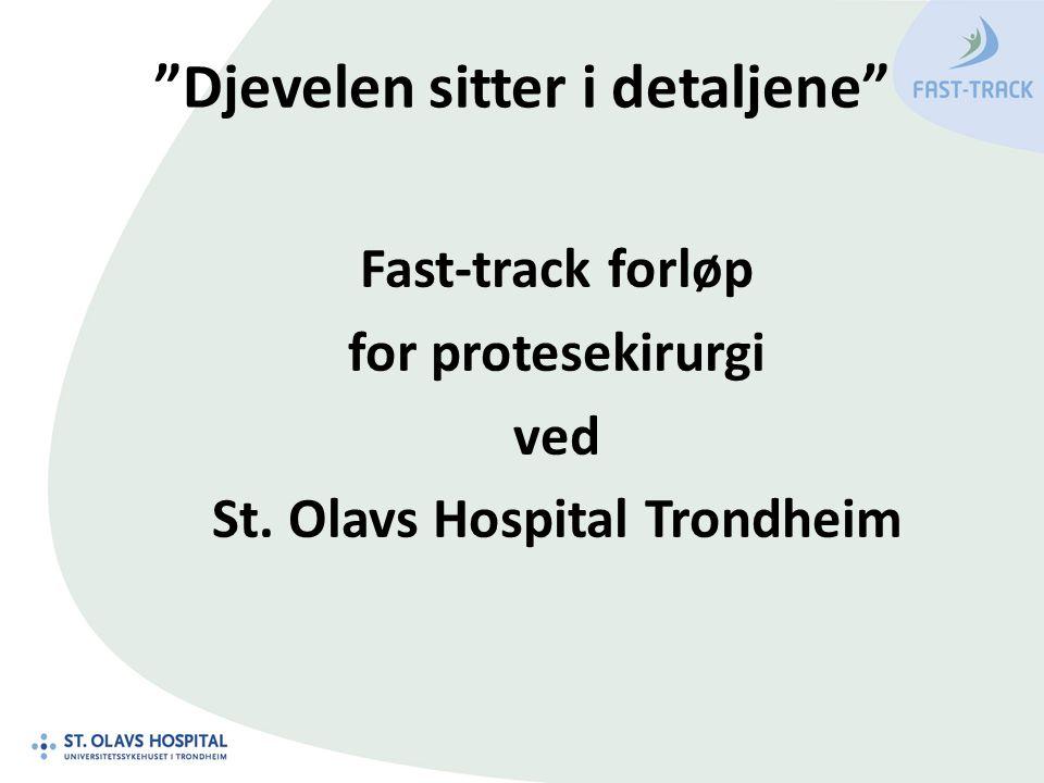Djevelen sitter i detaljene Fast-track forløp for protesekirurgi ved St. Olavs Hospital Trondheim