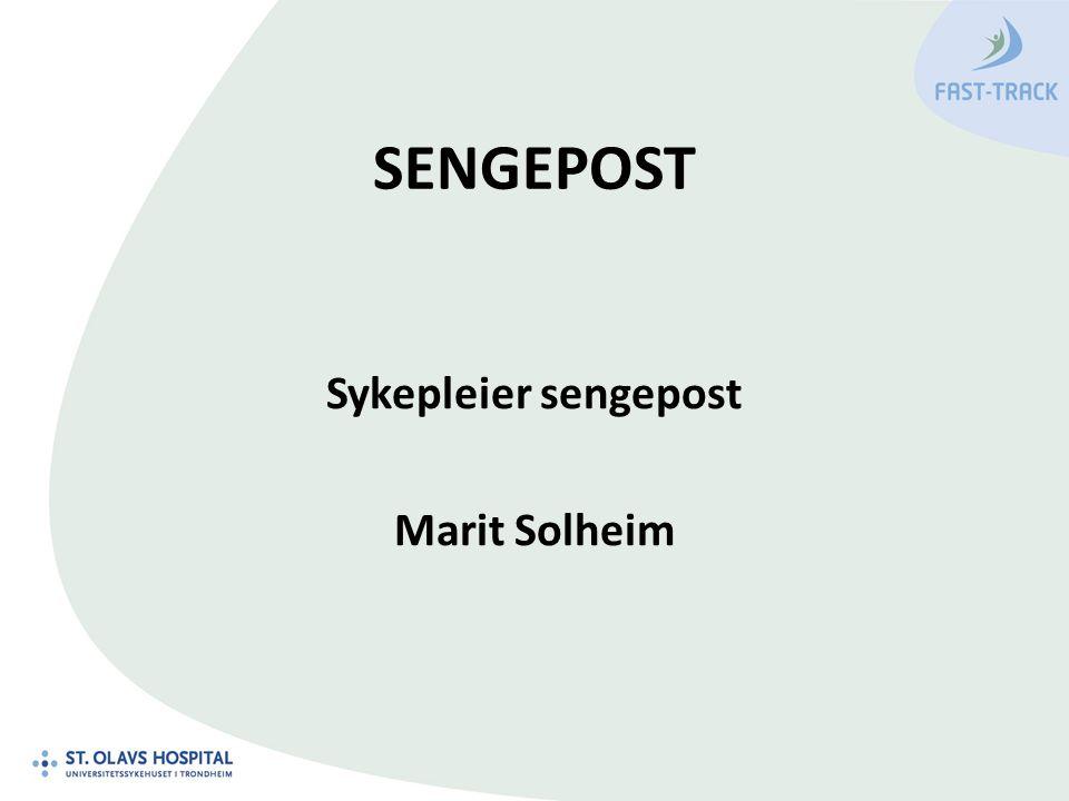 SENGEPOST Sykepleier sengepost Marit Solheim