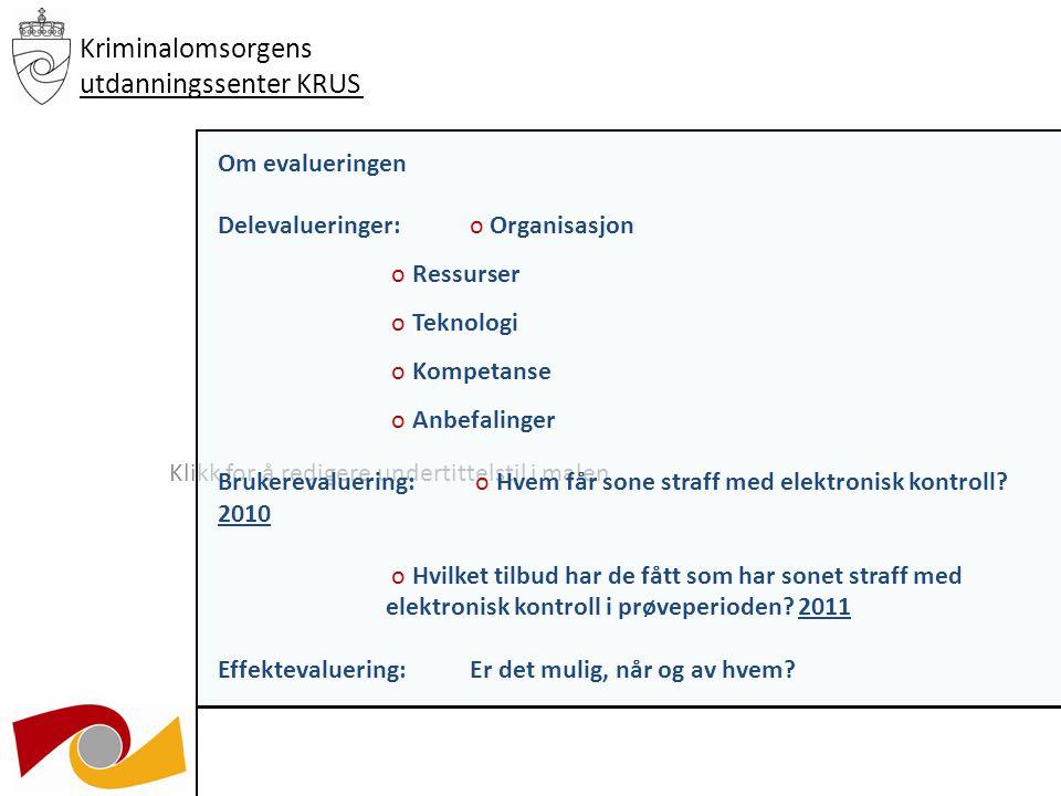 Klikk for å redigere undertittelstil i malen 03.12.09 Kriminalomsorgens utdanningssenter KRUS Søknader inn i 2009.