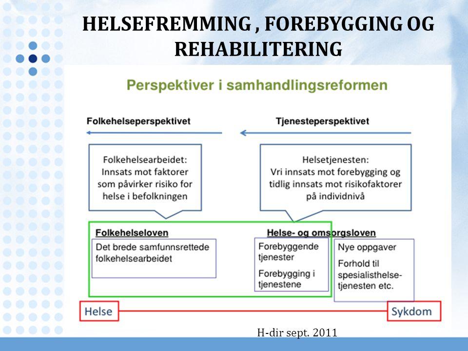 H-dir sept. 2011 HELSEFREMMING, FOREBYGGING OG REHABILITERING