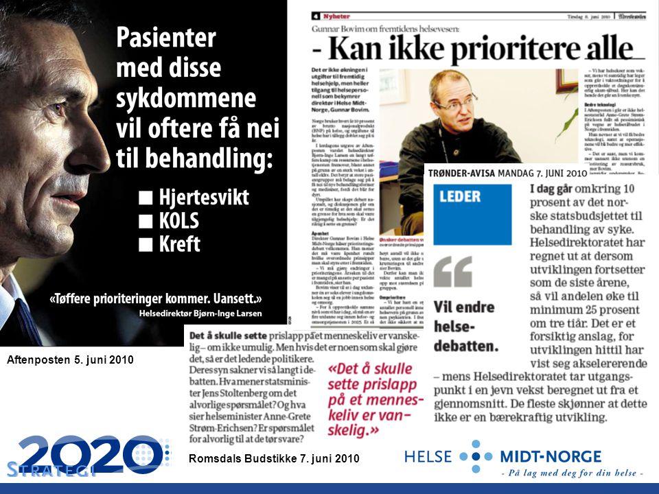 Aftenposten 5. juni 2010 Romsdals Budstikke 7. juni 2010