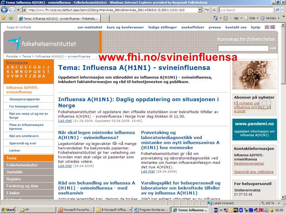 www.fhi.no/svineinfluensa