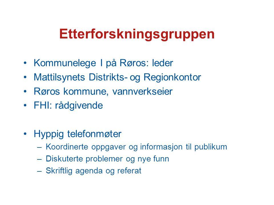 Utbruddsetterforskningen Epidemiologisk –Dybdeintervju (jf.