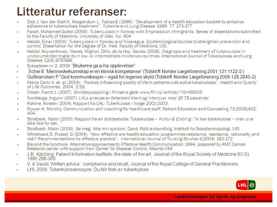 12.07.20141612.07.201416 Landsforeningen for hjerte- og lungesyke 12.07.20141612.07.201416 Landsforeningen for hjerte- og lungesyke Litteratur referan