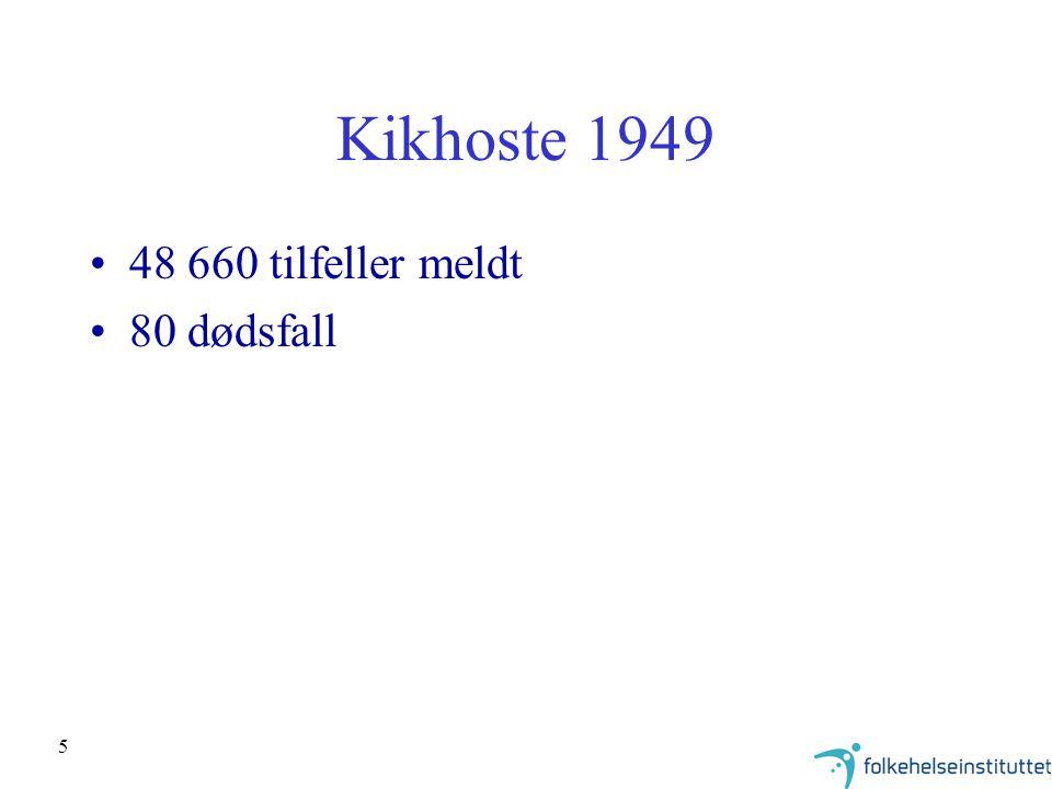 5 Kikhoste 1949 48 660 tilfeller meldt 80 dødsfall