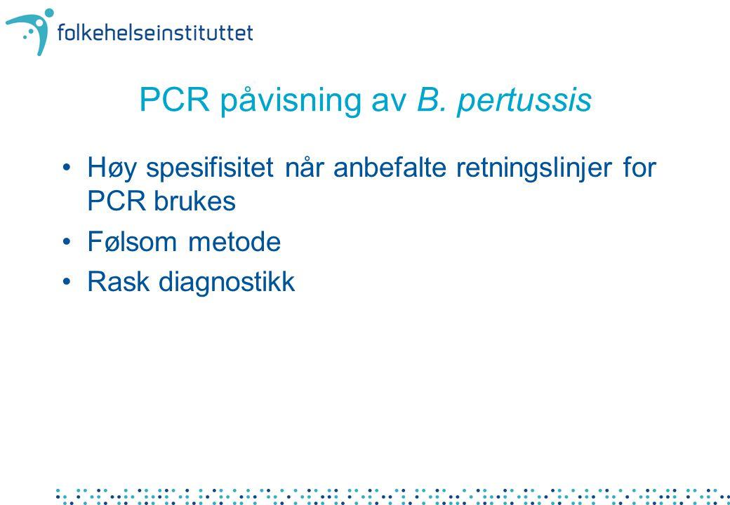 PCR påvisning av B.
