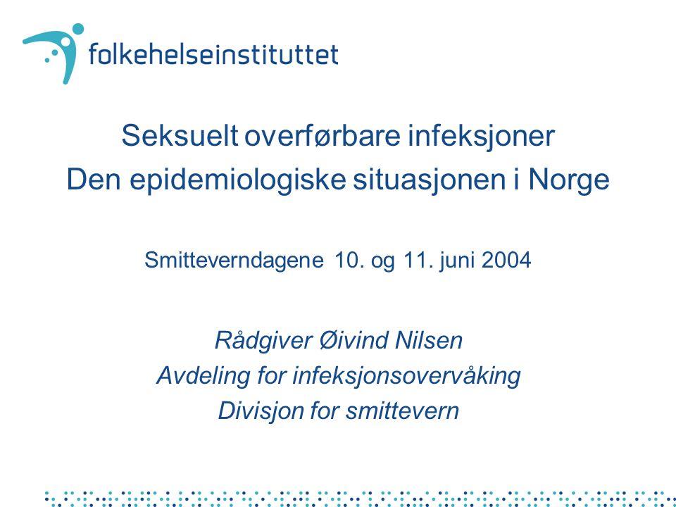 2003: Median alder 32 (19-60), 58% smittet i Oslo, 24% anal gc