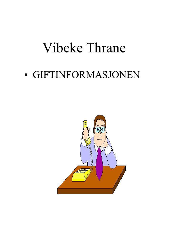 Vibeke Thrane GIFTINFORMASJONEN