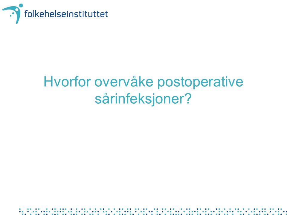 Hvorfor overvåke postoperative sårinfeksjoner?