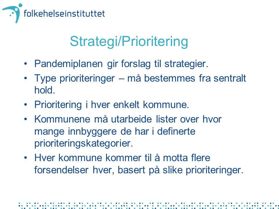 Strategi/Prioritering Pandemiplanen gir forslag til strategier.