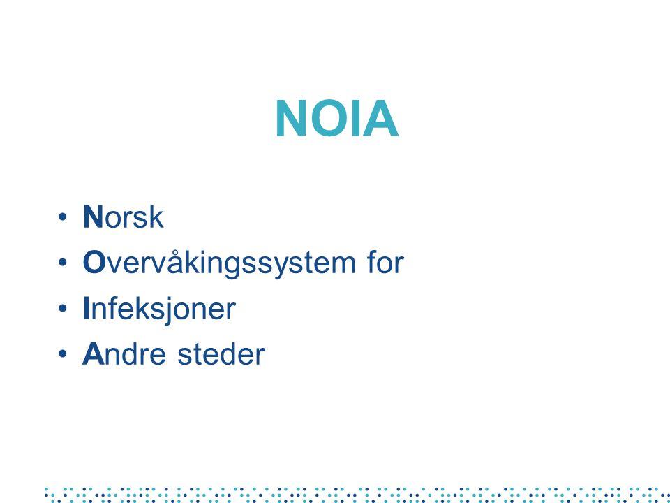 NOIA Norsk Overvåkingssystem for Infeksjoner Andre steder