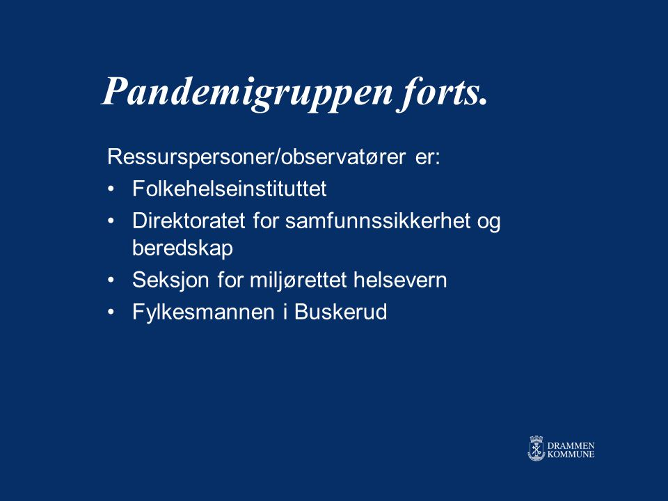 Pandemigruppen forts.