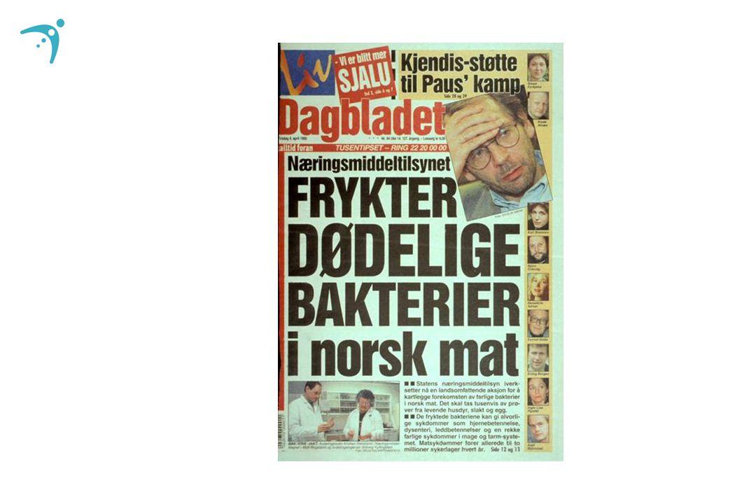 MELDTE TILFELLER SALMONELLOSE - MSIS 1995-2007 Smittet i Norge