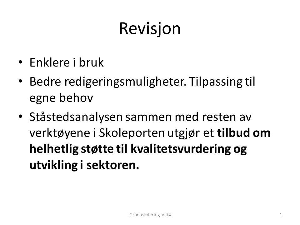 Revisjon Enklere i bruk Bedre redigeringsmuligheter.
