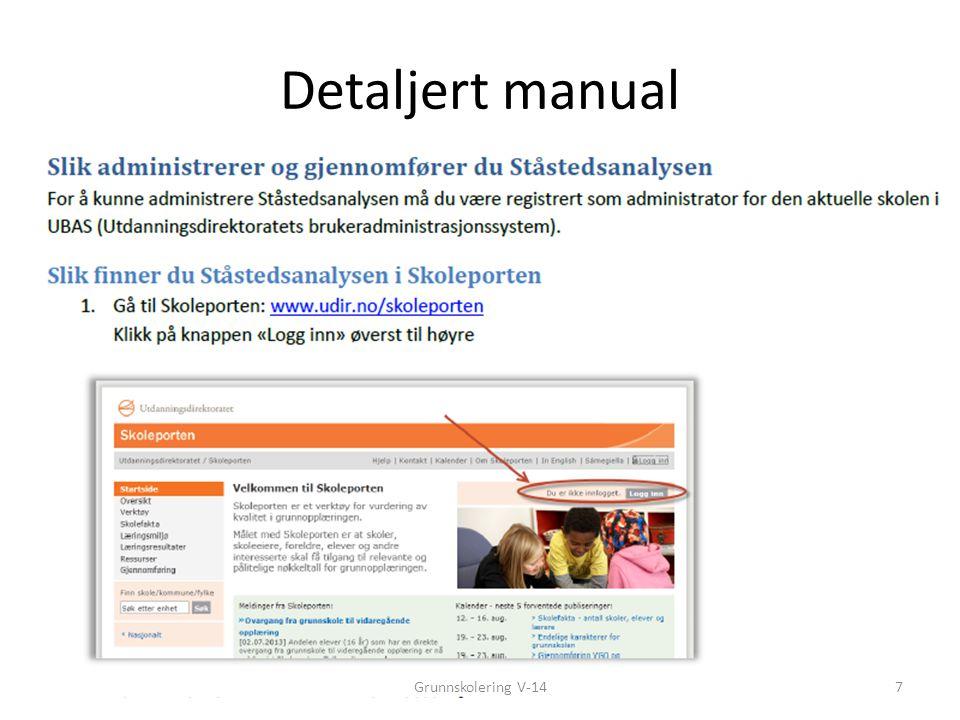 Detaljert manual 7Grunnskolering V-14