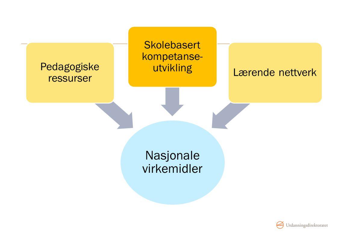 Nasjonale virkemidler Pedagogiske ressurser Skolebasert kompetanse- utvikling Lærende nettverk