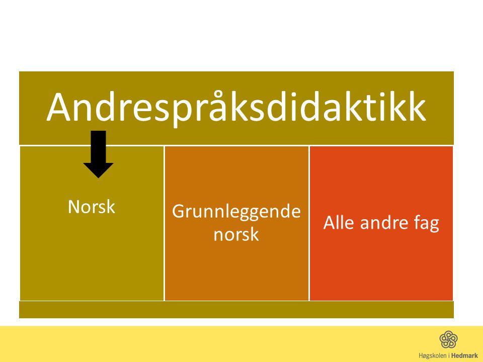 Andrespråksdidaktikk Norsk Grunnleggende norsk Alle andre fag