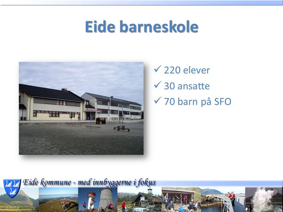 Eide barneskole 220 elever 30 ansatte 70 barn på SFO