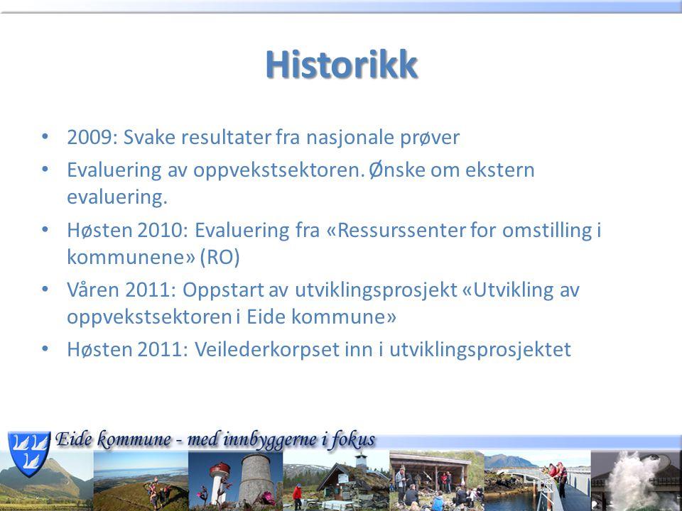 Historikk 2009: Svake resultater fra nasjonale prøver Evaluering av oppvekstsektoren.