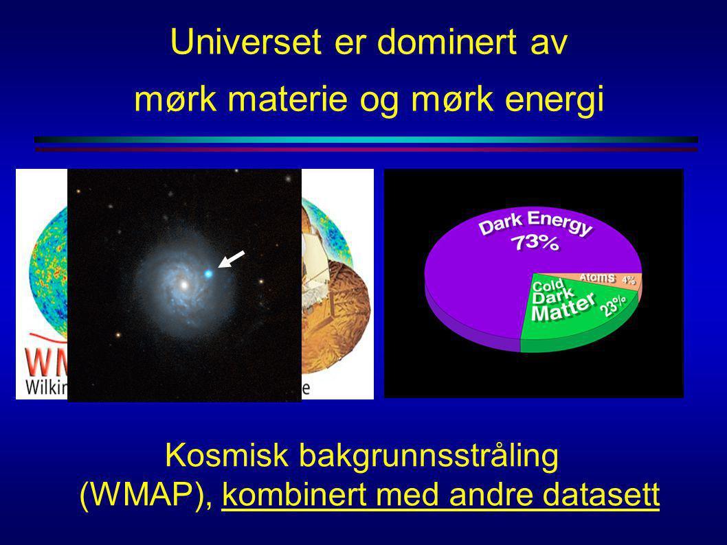 Kosmisk bakgrunnsstråling (WMAP), kombinert med andre datasett Universet er dominert av mørk materie og mørk energi
