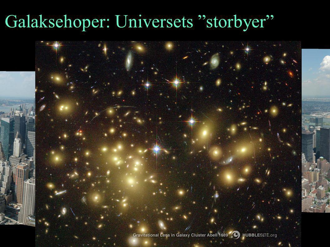 """Galaksehoper: Universets """"storbyer"""""""