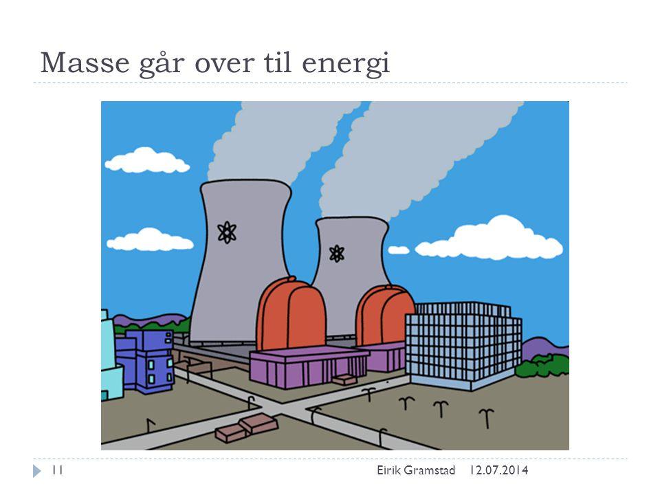 Masse går over til energi 12.07.2014Eirik Gramstad11