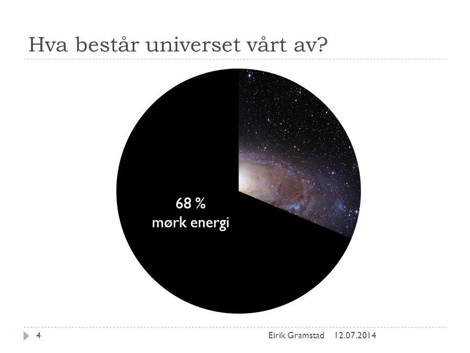 Hva består universet vårt av? 12.07.2014Eirik Gramstad5 27 % mørk materie