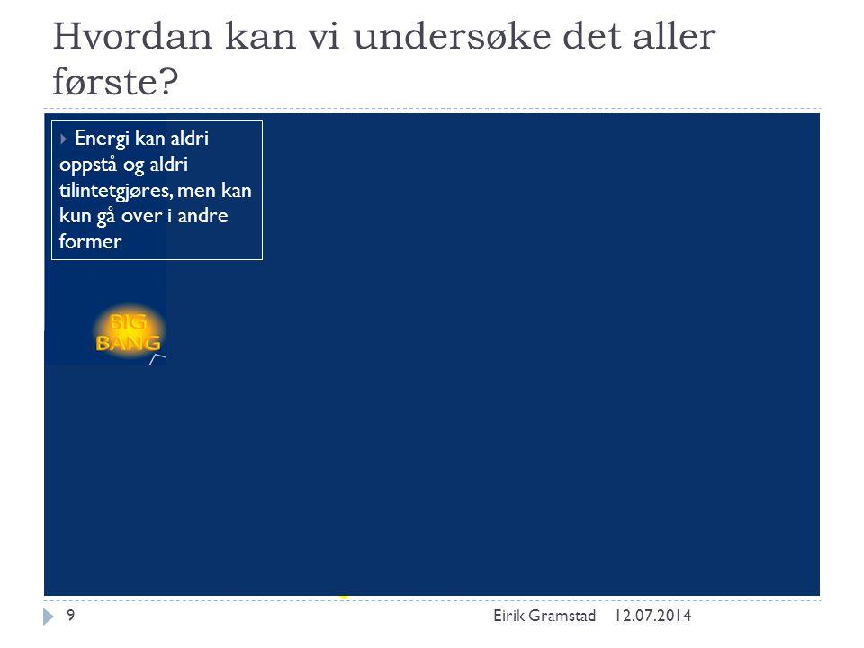 Higgsbosonet og BEH-mekanismen 12.07.2014Eirik Gramstad20