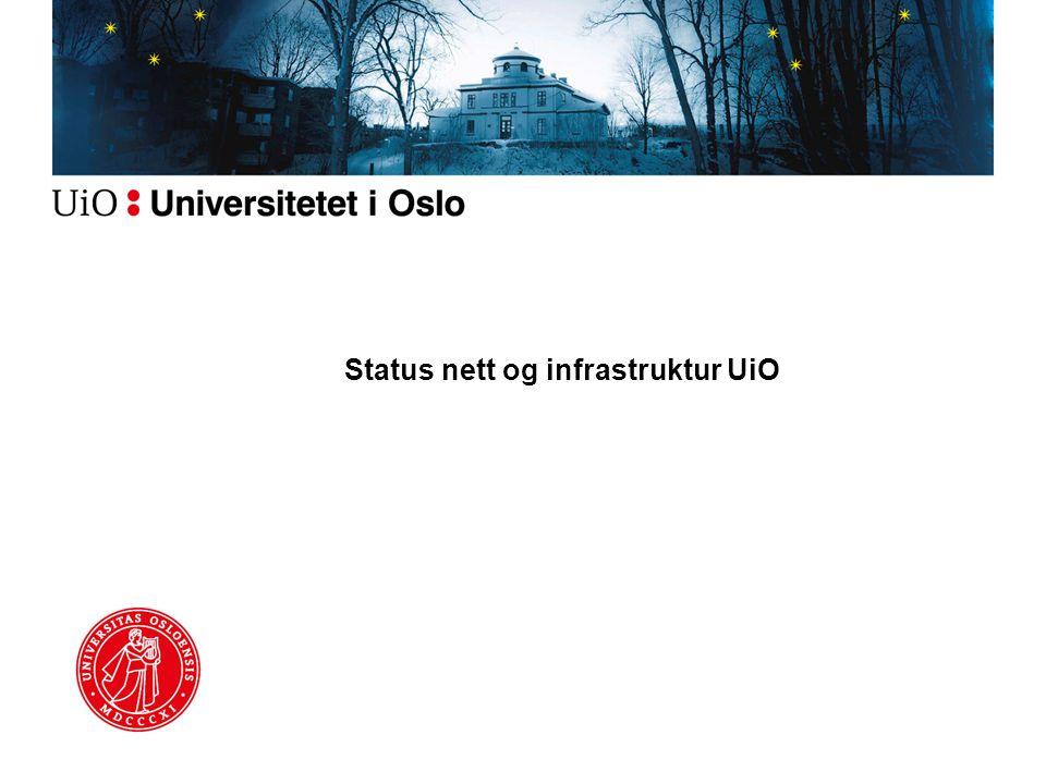 Status nett og infrastruktur UiO