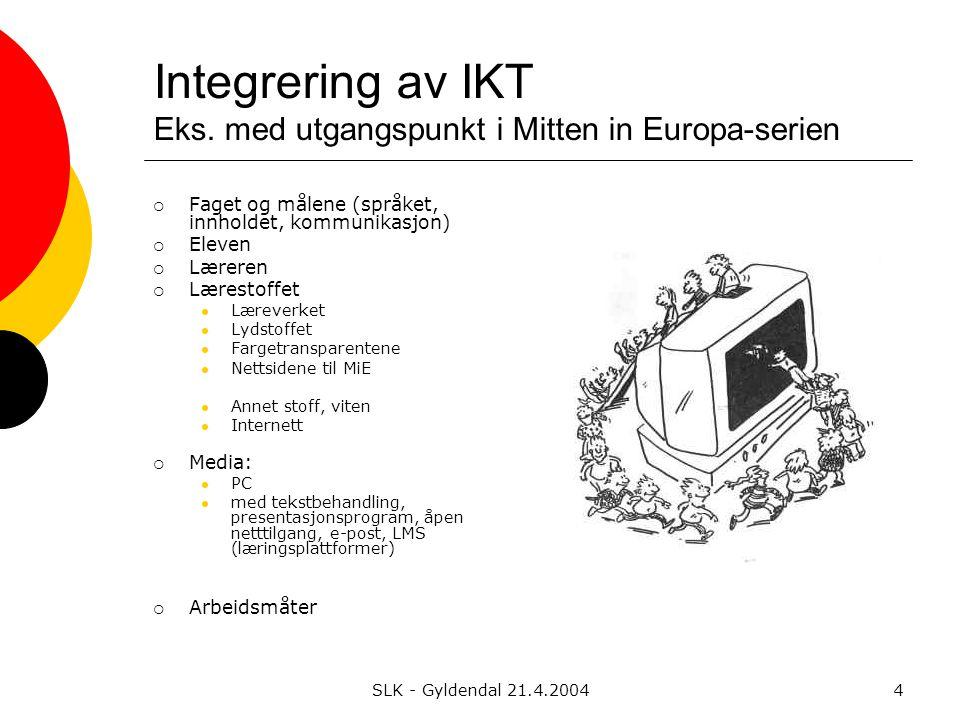 SLK - Gyldendal 21.4.20044 Integrering av IKT Eks.