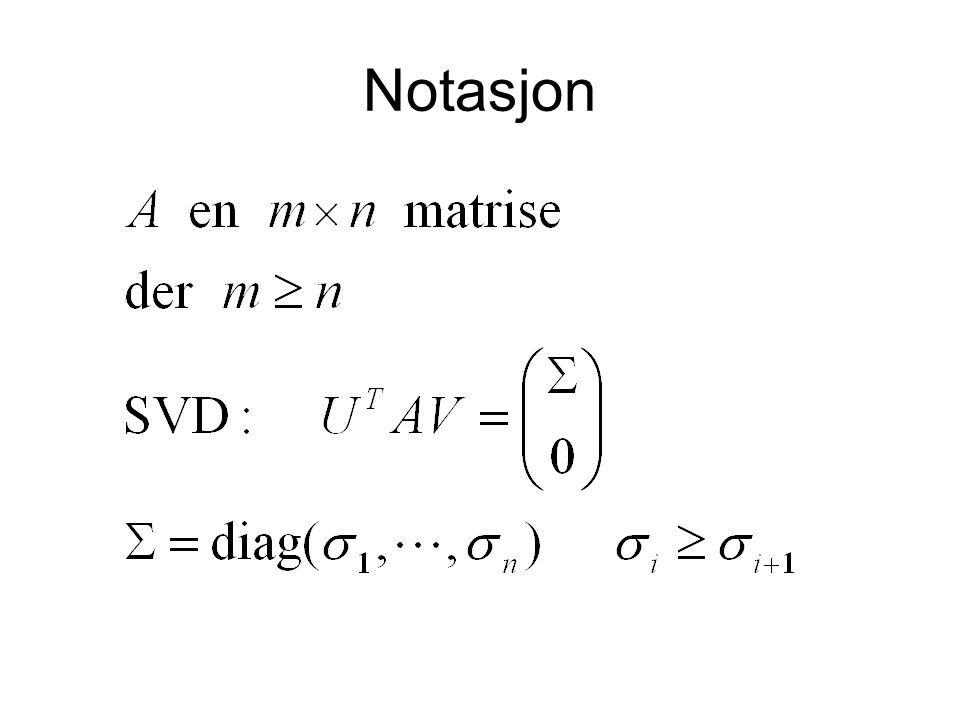 Notasjon