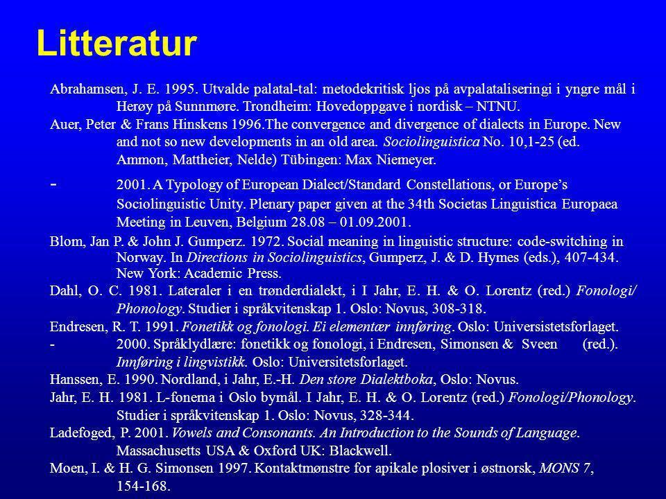 Litteratur Abrahamsen, J. E. 1995.