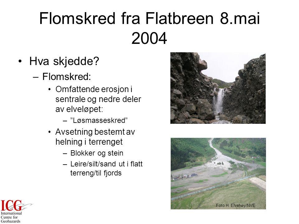 Flomskred fra Flatbreen 8.mai 2004 Hva skjedde.