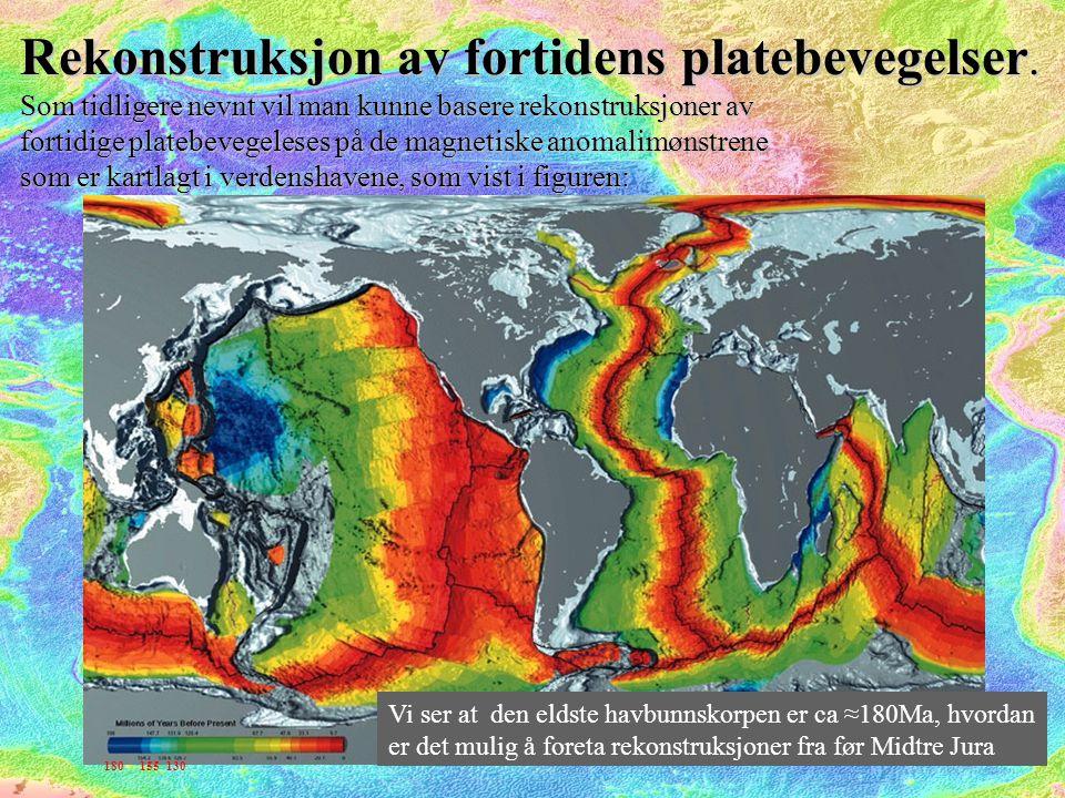 Vi ser altså at dersom havbunnsanomalien var den eneste basis for paleorekonstruksjoner ville vi være avskåret fra eksakte rekonstruksjoner fra før midtre jura.