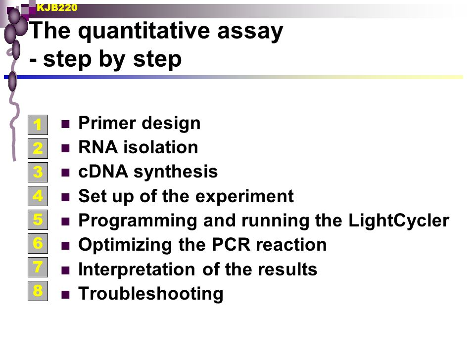 KJB220 How to avoid problems with genomic DNA.