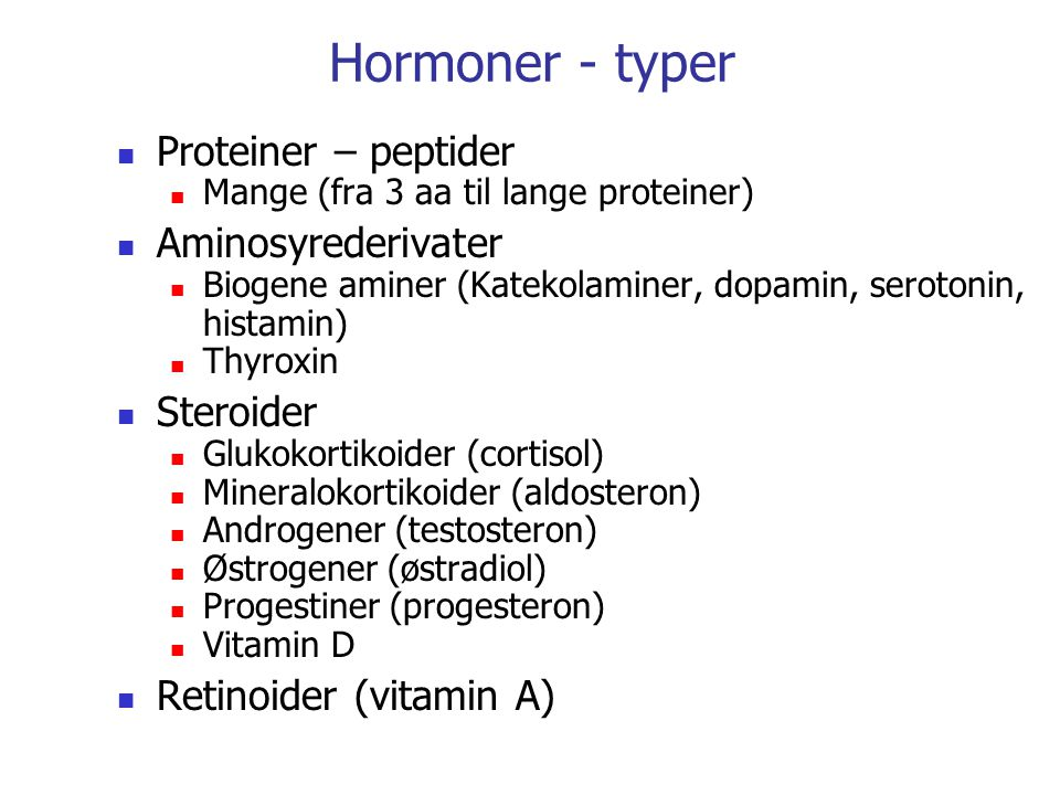 Parakrin signalering Ikke skarpt skille endokrin/parakrin Lokalt virkende hormoner Div.