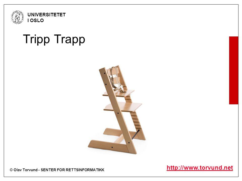 © Olav Torvund - SENTER FOR RETTSINFORMATIKK UNIVERSITETET I OSLO http://www.torvund.net Tripp Trapp