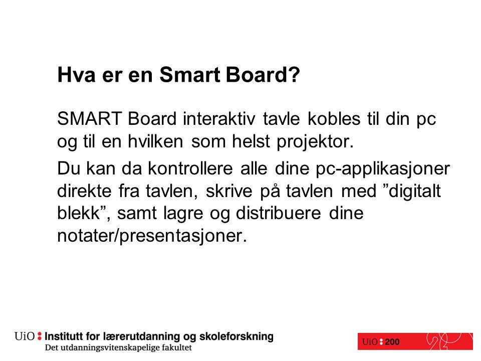 Hva er en Smart Board.