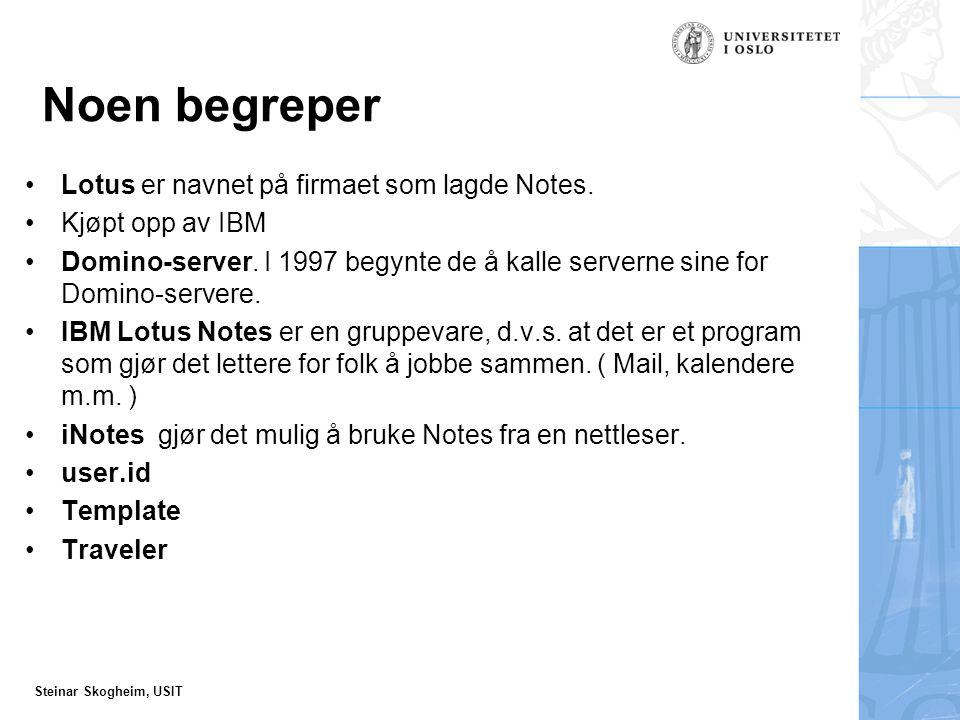 Steinar Skogheim, USIT To adskilte postsystemer.