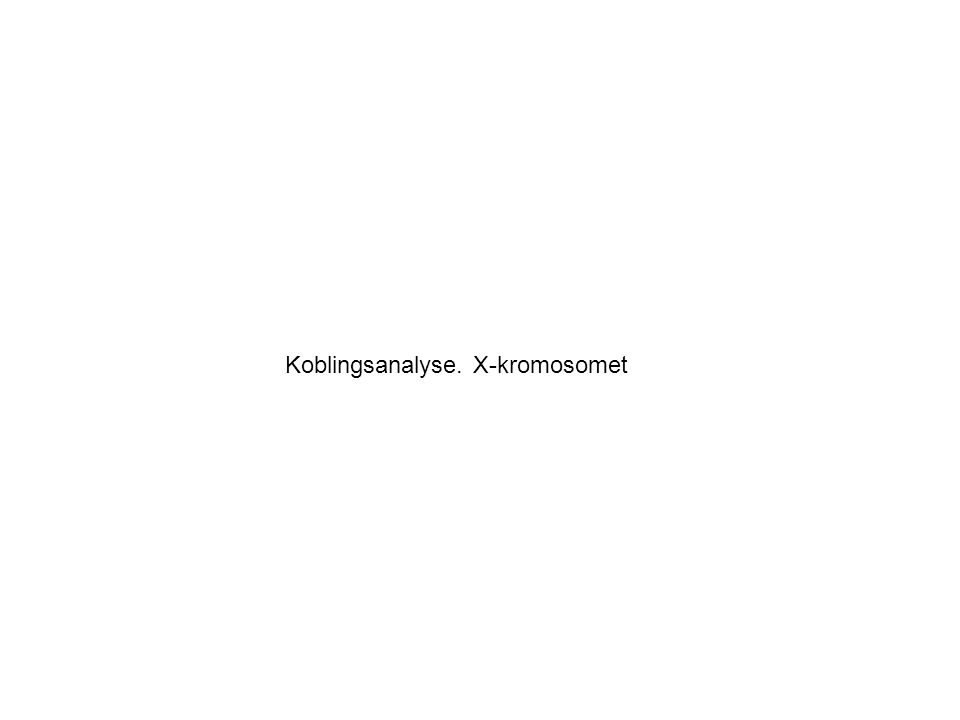Koblingsanalyse - en historie om en norsk familie –Lite hode –Epilepsi –Forsinket motorisk utvikling –Inget språk –Ataxi –Smilende, lettutløst latter –Sikling –Flekterte armer –Skjeling –Hyperkinetisk Indekspasienten Angelmans Syndrom (AS) var mistenkt, men genetiske analyser utelukket kjente årsaker til AS hos denne gutten Gilfillian et al.
