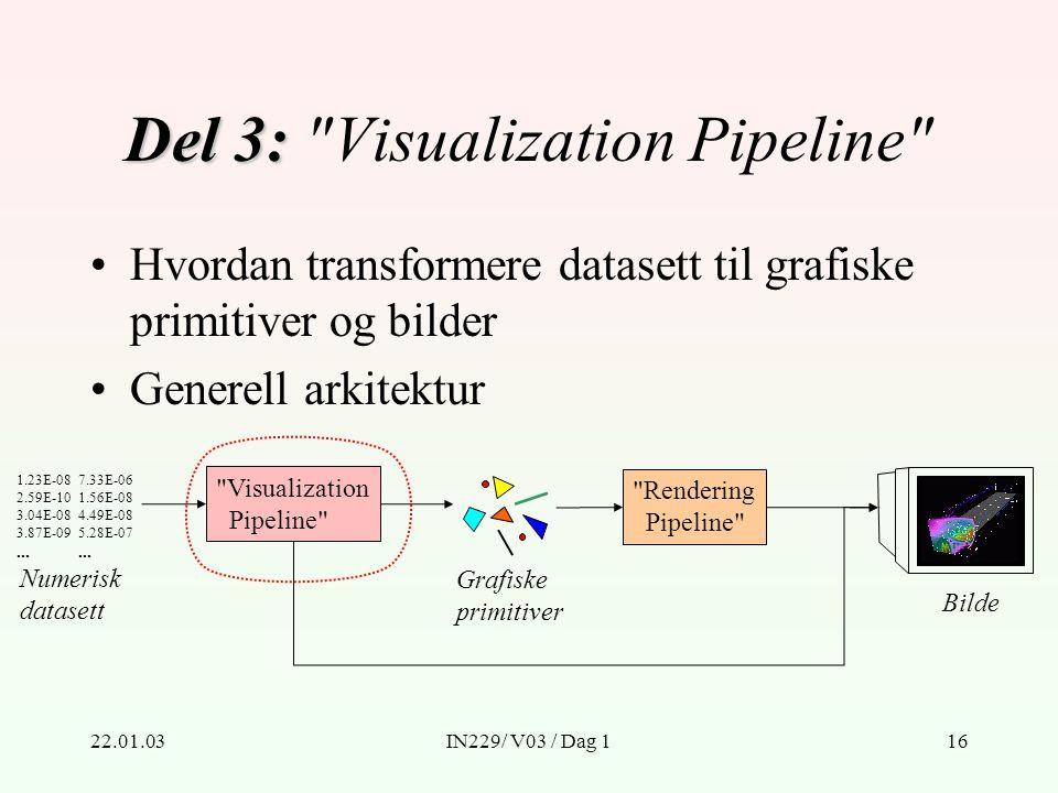 22.01.03IN229/ V03 / Dag 116 Del 3: Del 3: Visualization Pipeline Numerisk datasett 1.23E-08 2.59E-10 3.04E-08 3.87E-09...